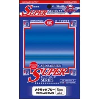 Protèges Cartes Accessoires Pour Cartes 80 pochettes KMC - Metallic Blue (bleu métallisé) - ACC