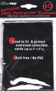 Protèges Cartes  40 grandes pochettes Oversized - Noir