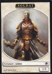 Tokens Magic Accessoires Pour Cartes Token/Jeton - Cicatrices De Mirrodin - Soldat