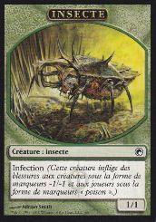 Tokens Magic Accessoires Pour Cartes Token/Jeton - Cicatrices De Mirrodin - Insecte