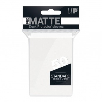 Protèges Cartes Accessoires Pour Cartes 50 pochettes - Pro Matte - Blanc