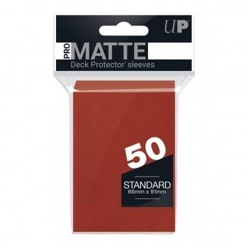 Protèges Cartes Accessoires Pour Cartes 50 pochettes - Pro Matte - Rouge
