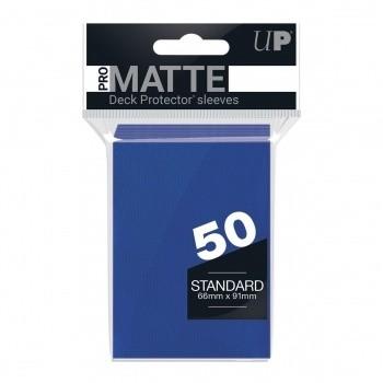 Protèges Cartes Accessoires Pour Cartes 50 pochettes - Pro Matte - Bleu