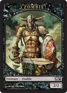 Tokens Magic Magic the Gathering Token/Jeton - Magic 2012 - Zombie