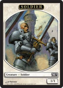 Tokens Magic Magic the Gathering Token/Jeton - Magic 2012 - Soldat