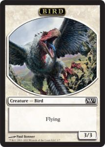 Tokens Magic Magic the Gathering Token/Jeton - Magic 2012 - Oiseau