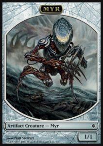 Tokens Magic Magic the Gathering Token Nouvelle Phyrexia - Myr