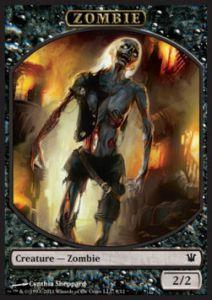 Tokens Magic Accessoires Pour Cartes Token/Jeton - Innistrad - Zombie N°9