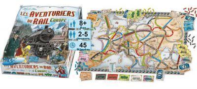 Thème : Véhicules Jeux de Plateau Les Aventuriers Du Rail - Europe