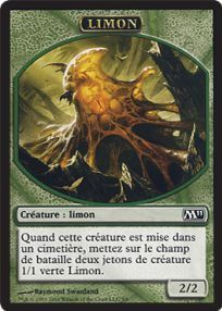 Tokens Magic Magic the Gathering Token/Jeton - Magic 2011 - 05/06 Limon (2/2)
