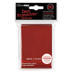 Protèges Cartes Accessoires Pour Cartes 50 pochettes Ultra Pro - Rouge - ACC