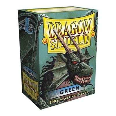 Protèges Cartes Accessoires Pour Cartes 100 Pochettes Dragon Shield - Green (vert) - Acc