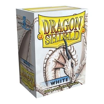 Protèges Cartes 100 pochettes Dragon Shield - White (blanc) - ACC