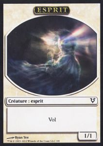 Tokens Magic Magic the Gathering Token/Jeton - Avacyn Ressuscitée - Esprit Blanc