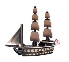Pirates of the Spanish Main ES-016 - HMS Lord Walpole (Ship) - Pirates of the Spanish Main