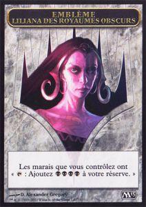 Tokens Magic Token/Jeton - Magic 2013 - Emblème Liliana Des Royaumes Obscures