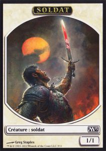 Tokens Magic Magic the Gathering Token/Jeton - Magic 2013 - 03/11 Soldat