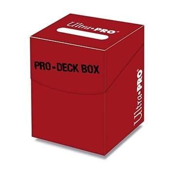 Boites de Rangements Accessoires Pour Cartes Deck Box Ultra Pro - [pro 100+] - Rouge