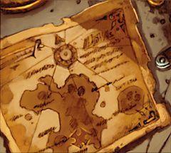 Pirates of the Spanish Main TC-002 - Marksman's Map (Unique Treasure) (Treasure) - Pirates of the Spanish Main