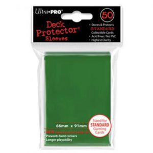 Protèges Cartes  50 pochettes - Deck Protector - Vert