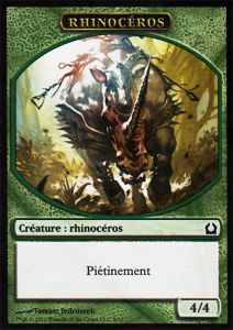 Tokens Magic Magic the Gathering Token/Jeton - Retour Sur Ravnica - 09 Rhinocéros