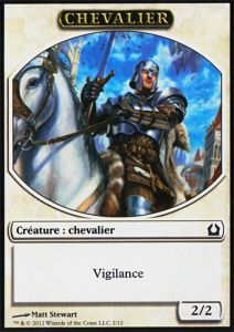 Tokens Magic Magic the Gathering Token/Jeton - Retour Sur Ravnica - 02 Chevalier