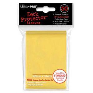 Protèges Cartes Accessoires Pour Cartes 50 pochettes - Deck Protector - Jaune