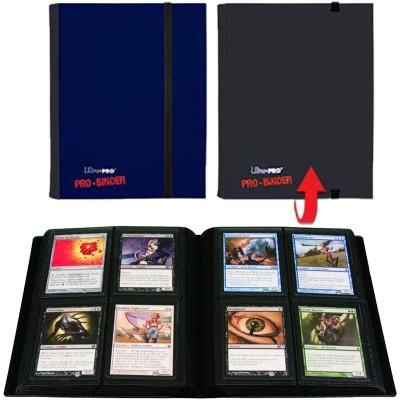 Classeurs et Portfolios Portfolio Ultra Pro - A5 Classeur à 20 Pages De 4 Cases [pro-binder] - Noir Et Bleu - ACC