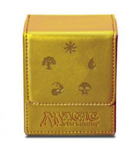 Boites de rangement illustrées Deck Box Ultra Pro - Flip Box aimantée - Doré Symboles de Mana - ACC