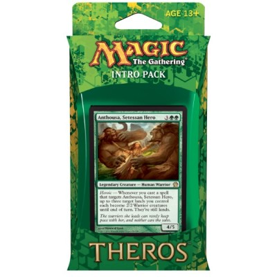 Decks Magic the Gathering Theros - Vert/Blanc - Intro Pack Deck - Armée d'Anthousa