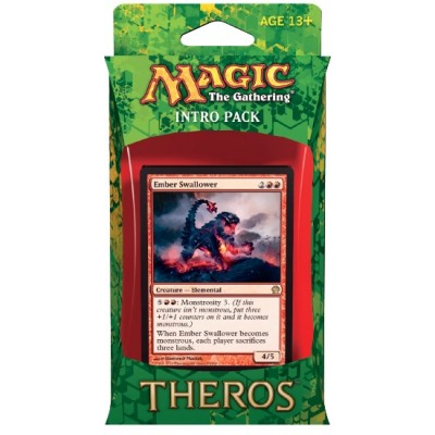Decks Préconstruits Magic the Gathering Theros - Rouge/vert - Intro Pack Deck - Bêtes Incandescentes Mythiques