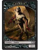 Tokens Magic Magic the Gathering Token/Jeton - Magic 2014 - 05/13 Zombie