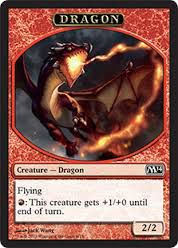 Tokens Magic Magic the Gathering Token/Jeton - Magic 2014 - 06/13 Dragon
