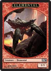 Tokens Magic Magic the Gathering Token/Jeton - Magic 2014 - 07/13 Elemental