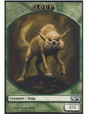 Tokens Magic Magic the Gathering Token/Jeton - Magic 2014 - 11/13 Loup