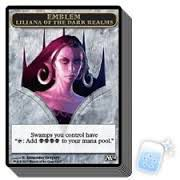 Tokens Magic Magic the Gathering Token/Jeton - Magic 2014 - 12/13 Emblème Liliana