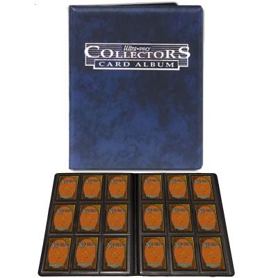 Portfolio  Cahier A4 - 10 pages de 9 cases (180 cartes recto-verso) -  Bleu