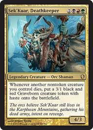 Grande Carte Oversized Magic the Gathering Oversized - Sek'Kuar, gardemort