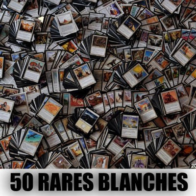 Lot de Cartes Magic the Gathering Lot de 50 rares blanches (lot A)