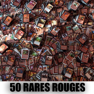 Lot de Cartes Magic the Gathering Lot de 50 rares rouges (lot A)