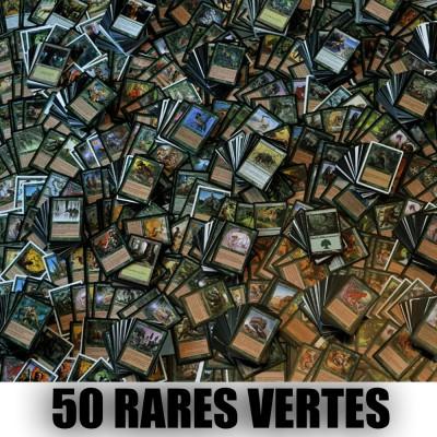 Lot de Cartes Lot de 50 rares vertes (lot A)
