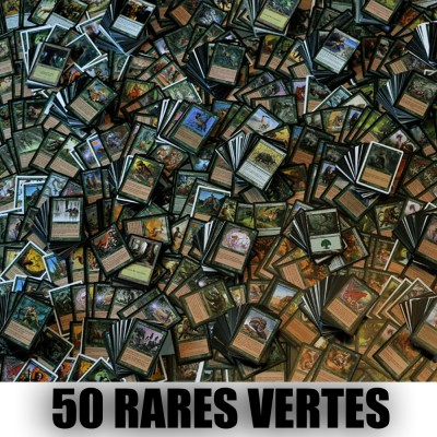 Lot de Cartes Magic the Gathering Lot de 50 rares vertes (lot A)
