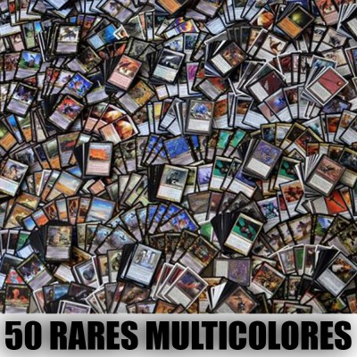 Lot de Cartes Lot de 50 rares multicolores (lot A)