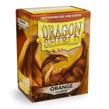 Protèges Cartes Accessoires Pour Cartes 100 pochettes Dragon Shield - Orange - ACC