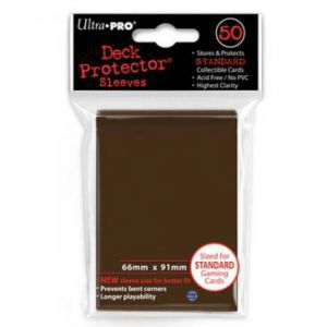 Protèges Cartes 50 pochettes - Deck Protector - Marron