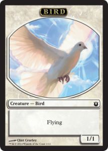 Tokens Magic Magic the Gathering Token/Jeton - Créations Divines - 01/11 - Oiseau blanc