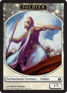 Tokens Magic Magic the Gathering Token/Jeton - Créations Divines - Soldat