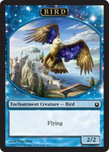 Tokens Magic Magic the Gathering Token/Jeton - Créations Divines - 04/11 - Oiseau bleu