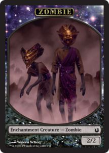Tokens Magic Magic the Gathering Token/Jeton - Créations Divines - Zombie