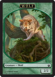 Tokens Magic Magic the Gathering Token/Jeton - Créations Divines  - 09/11 - Loup